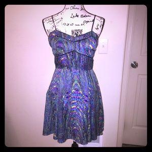 JACK Abstract Colorful Sleeveless Mini Dress